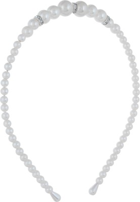 Fayon Contemporary Statement White Pearl Beaded Hair Band