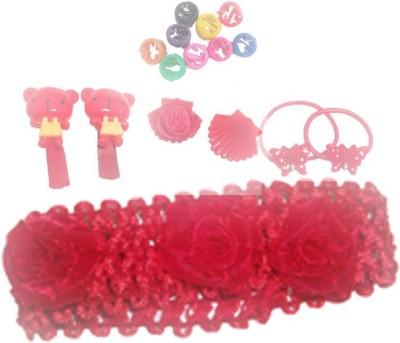 Y & J Hair Band, Hair Clip, Clutcher, Beads, Rubber Band Hair Accessory Set