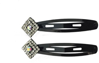 Ecombasket AD Whie Stone 1 Pair Black Tic Tac Clip