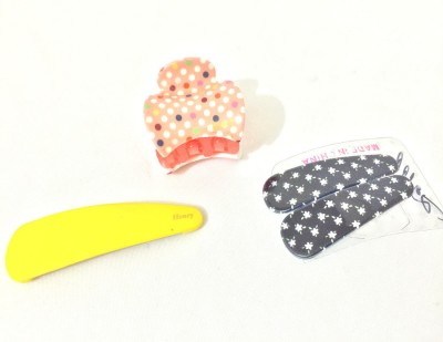 Ecombasket Combo of 4 Gorgeous Hair Claw, Tic Tac Clip