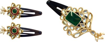 B-Fashionable Combo of Kundan Tic Tac Clip