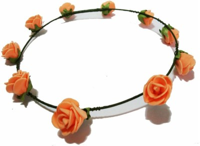 Opc Floral Tiara Light Orange Color Head Band