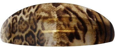 Shreya Collection Beige & Yellow Colour Shiny Hair Ponytail Barrette Clutcher Clip Alligator Buckle - 10046.7 Back Pin
