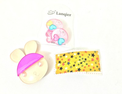 Ecombasket Set of Baby Girls for 5 Beautiful Hair Clip, Tic Tac Clip, Rubber Band