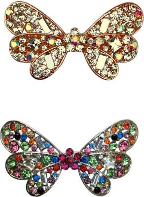 B-Fashionable Combo of Dazzling Butterfly Hair Clip