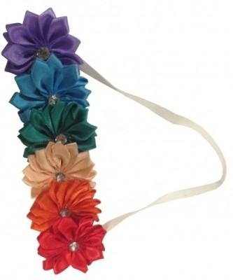 NeedyBee Satin Flowers for Baby Girls Head Band(Multicolor)