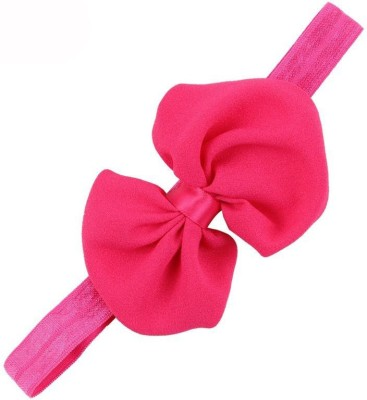 Bellazaara BELLAZAARA Baby Girls Newborn Hot Pink Chiffon Bowknot Headbands Hairband Head Band