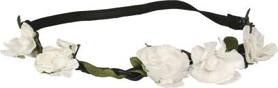 ToniQ White Floral Head Band