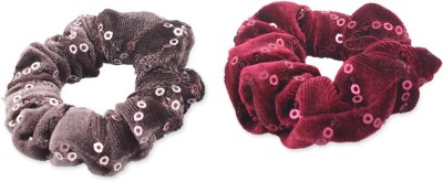 Addons Red Colour Scrunchies Rubber Band