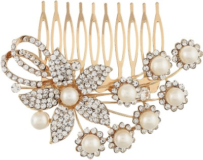 Dazzle Collections Floral Pearl Hair Clip