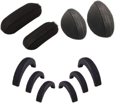 Pankh 10 Puff Bun Hair Accessory Set(Black)