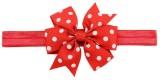 Angel Closet Polka Dots Head Band (Red)