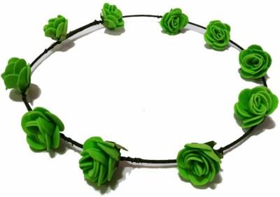 Opc Floral Tiara Green Color Head Band