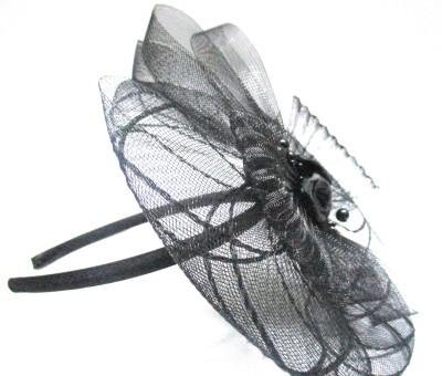 Ultimate Fashion Designer Black Floral Band Hair Band