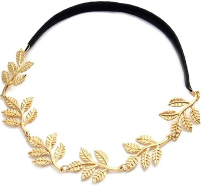 Creative India Exports Gold Olive Branch Hair Chain(Gold)