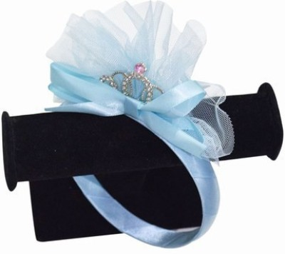 Pink & Blue India Infants Hair Accessory with Silver Crown Head Band