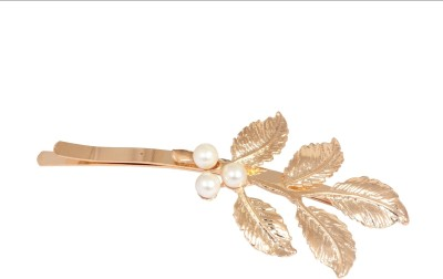 Crunchy Fashion Leaves with Pearl Twist Hair Pin