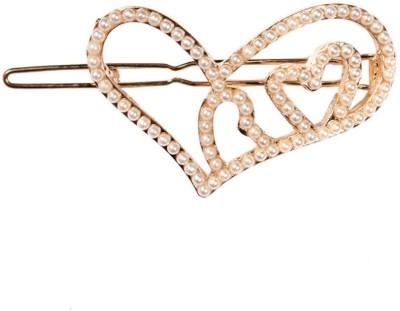 Crunchy Fashion Contemporary Valentine Heart To Heart Hair Clip