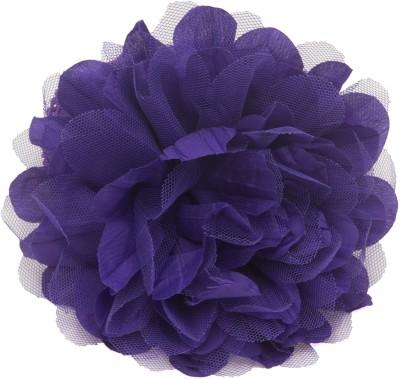 NeedyBee Purple Flower Bunch in Crochet lace for Baby Girls Head Band