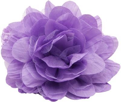 NeedyBee Light Purple Flower Bunch in Crochet lace for Baby Girls Head Band