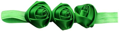 BabyZinnia Three Satin Rose Flower Soft Head Band