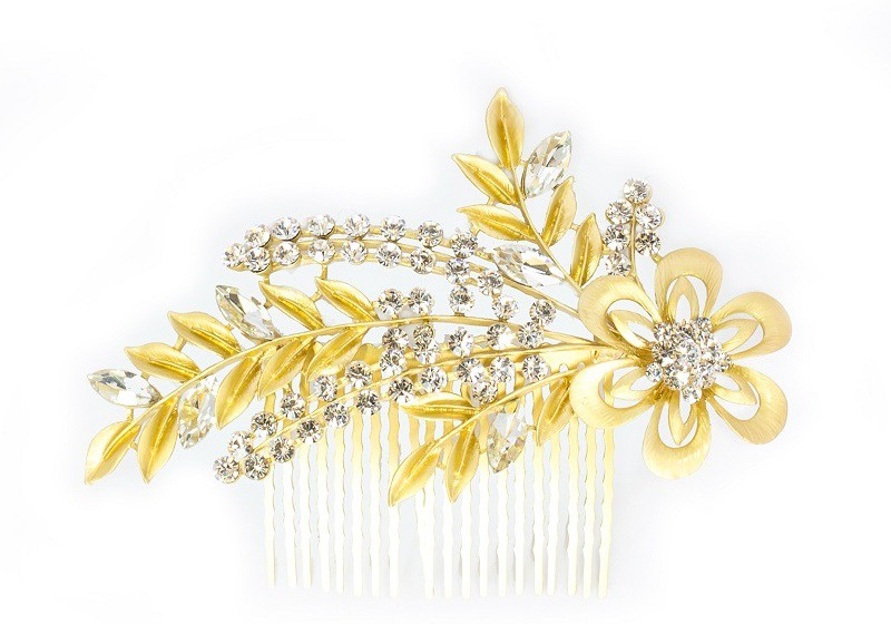 K.R.S. Jewels H14 Hair Clip(Yellow)