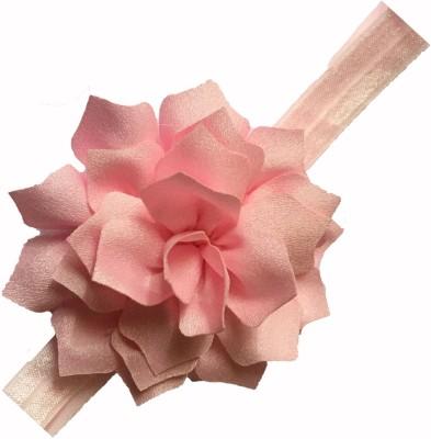 Bellazaara BELLAZAARA Pink Lotus Chiffon Flowers with Elastic Headbands Baby Girl Head Band
