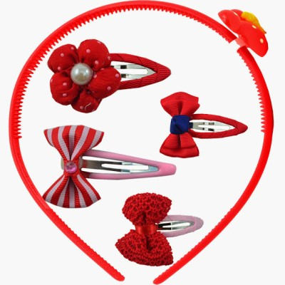 Angel Glitter Red Queen Clips Combo Hair Accessory Set
