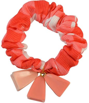 Sarah Orange Fabric Hair Rubber Band for Women Rubber Band