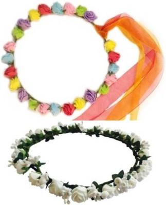 Blossom Combo Tiara Multi color & White Head Band