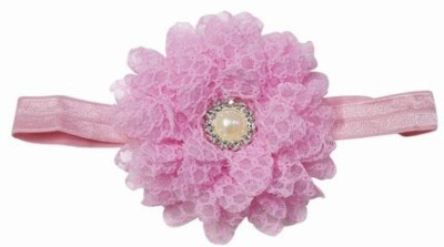 Pink & Blue India Net Flower Baby with Diamond Pearl Head Band