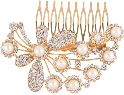 Dazzle Collections Butterfly Gold Hair Clip