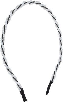 Fayon Fashion Statement White Beaded Hair Band