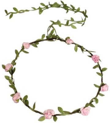 Young & Forever Rose Flowers Branch Festival Wedding Garland Head Wreath Crown Floral Halo Hair Head Band