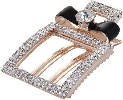Fayon Fabulous Fashion Black Vintage Bow Tiny Rhinestone Hair Pin