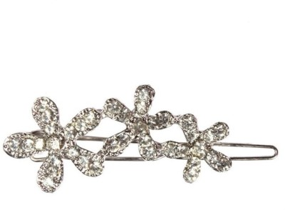 Crunchy Fashion Contemporary Three Flowers Hair Pin