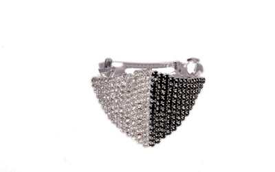 Trinklets Silver and Black Stone Studded Hair Clip
