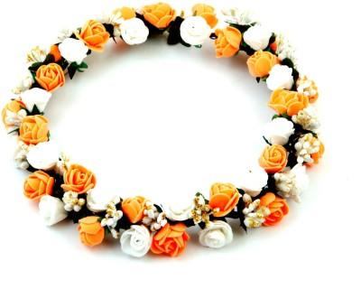 Sanjog Splendid Peach And White Crown/Tiara For Wedding/Party Head Band
