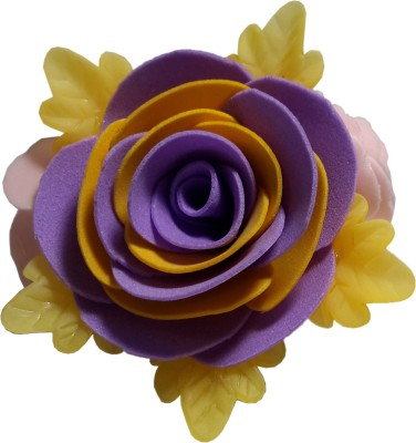 Apeksha Arts Purple N Yellow Floral Brooch Hair Pin