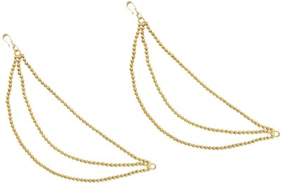 Mehrunnisa Triple Layer Gold Tone Hair Chain
