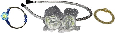 Juhi Floral Hairband with Bracelets Hair Accessory Set