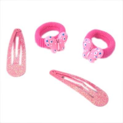 Addons Pink Colour H-Pin+Scrunchy Hair Pin