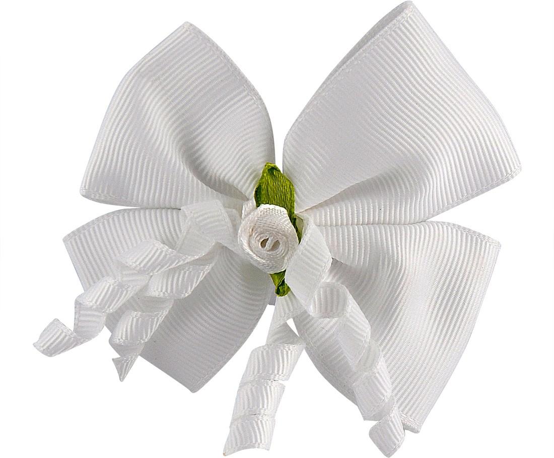 Stoln Bow Hair Clip(White)