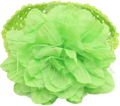 NeedyBee Crchet Elastic Band and Polyester Flower Head Band