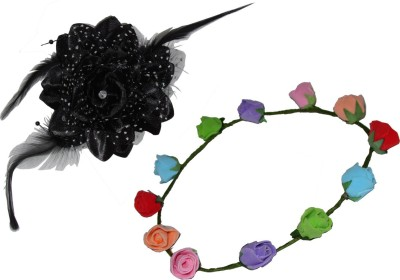 Juhi Gift Headband with Floral Tic-Tac Hair Accessory Set