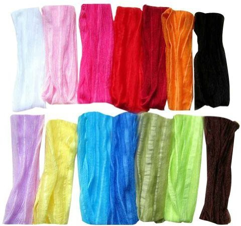 """Janecrafts Janecrafts (Set of 12pcs) 7"""" Extra Wide Fashion Ruffle Flexsible Cotton Yoga Sports Headband for Teens Women Girls Hair Band Mix in 12 Colors Head Band(Multicolor)"""