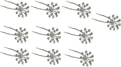 Pink Rose Princess Charm Hair Pin