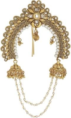 Prita Elegant Polki Pearl Gold Plated Bun Pin Hair Claw