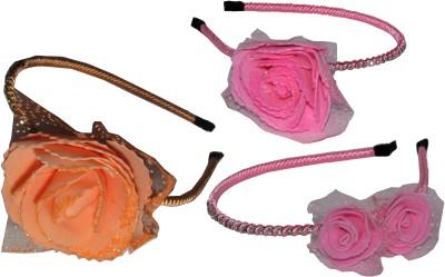 Juhi Pink & Orange Floral Hair Accessory Set