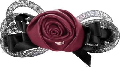 Fayon Fabulous Statement Red Imitation Rose Black Hair Clip